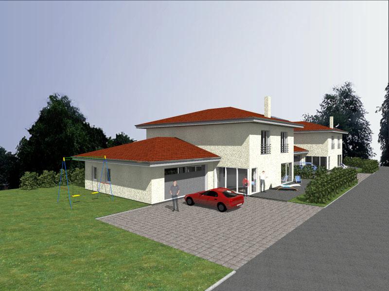 engwilen einfamilienhaus mit doppelgarage niedrigenergiehaus. Black Bedroom Furniture Sets. Home Design Ideas